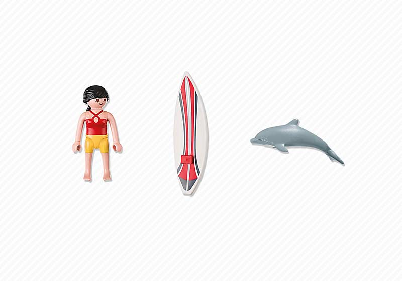 Contenido real de Playmobil® 5372 Surfista con Tabla de Surf