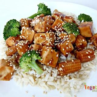 Tofu and Broccoli over Rice – #glutenfree