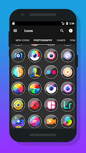 Rarent - Icon Pack app for Android screenshot