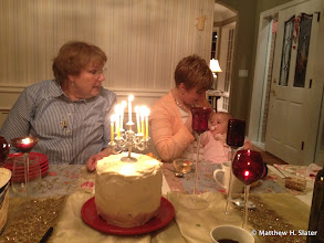 Photo: Birthday dinner at home for sister