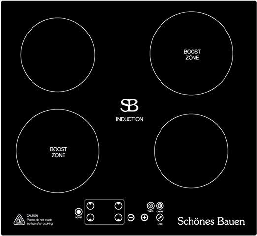 Schönes Bauen Vier 7400W Induction Cooktop 4-Burner Built-In Induction Burner Plate. 220V electric stovetop for cooking