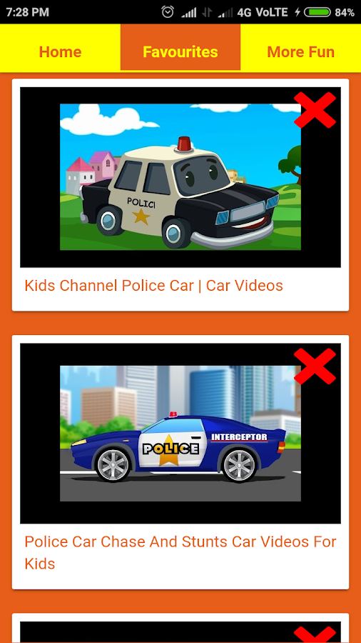 police car videos for kids screenshot