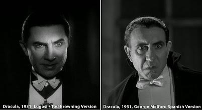 """Photo: Bela Lugosi na versão americana e Carlos Villarías na versão espanhola de """"Dracula"""", ambas produzidas em 1931. http://filmesclassicos.podbean.com"""
