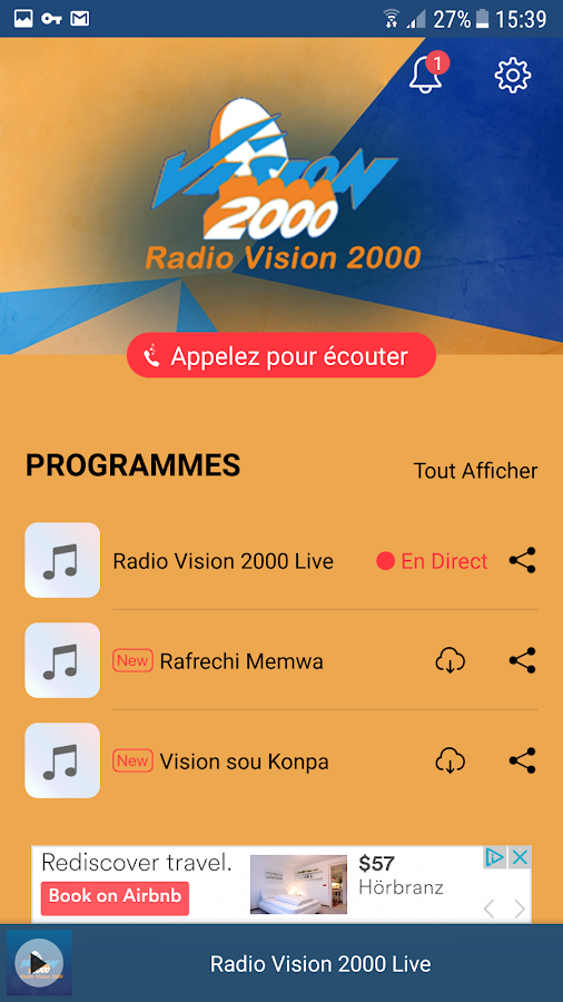 Radio Vision 2000- screenshot