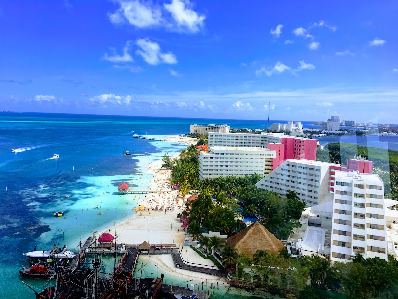 Scenic tower view of Cancun