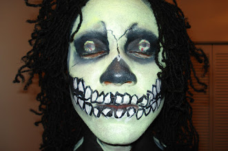 Photo: Face Painting Halloween Glow in the Dark by Paola from http://www.BestPartyPlanner.net