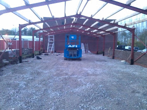 Photo: 10th Nov - Roof Purlins added