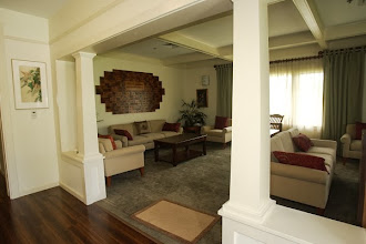 Photo: Living Room located upon entrance to Care Center.