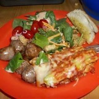Ricotta and Spinach Stuffed Manicotti.