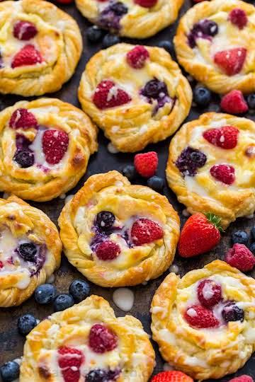 Cream Cheese Danish Recipe with Lemon Glaze - NatashasKitchen.com