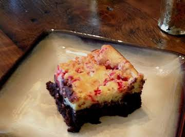 Peppermint Cheesecake Black Bottom Brownies