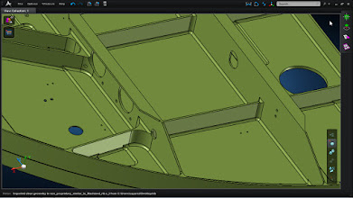 Photo: Model has been imported into the application. MSC Apex supports geometry from common CAD packages.