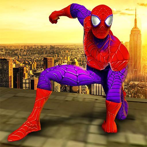 Super Spider Hero City Rescue Games