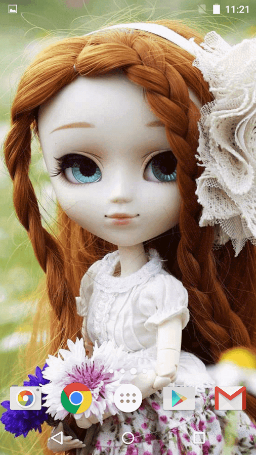 Cute Animated Wallpapers For Mobile Gif Cute Dolls Live Wallpaper Android Apps On Google Play