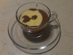 Photo: Mousse al cioccolato gocciata pasticcera