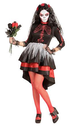 Day of the dead, klänning med diadem