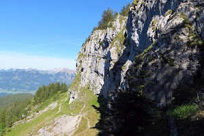 Besler Blick auf Königsweg (Rückweg ohne Klettersteig) unter dem Besler, Obermaiselstein Allgäu