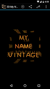 3D My Name Vintage Wallpaper screenshot 2