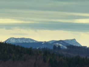 Photo: Schwarzauer Gippel (1605m) und Gippel (1669m), davor Kleinzeller Fels (1161m) und Buchenschopf (~1100m)