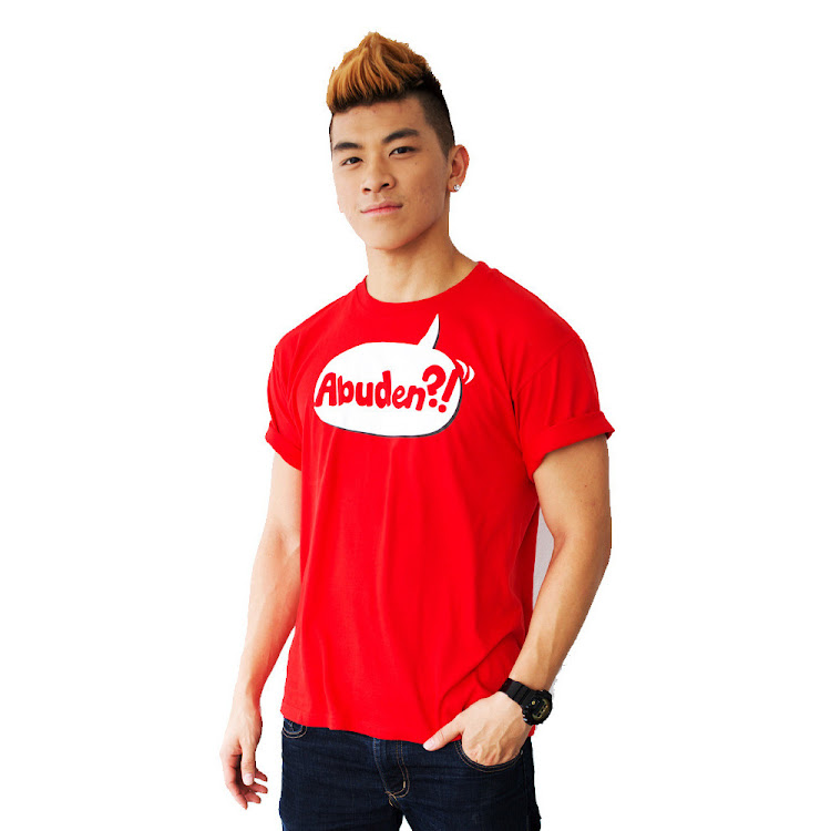 [SMALL] - ABUDEN?! Statement Tee (Red) Unisex by JinnyboyTV