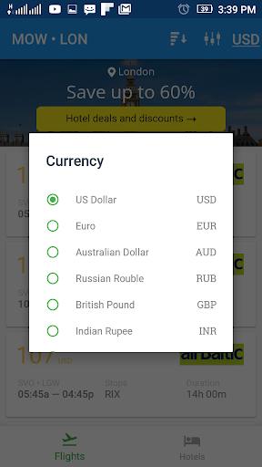 Flightzy - cheap flights & hotels search 4.1.1 screenshots 4