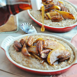 Apple Pecan Pie Oatmeal (Gluten Free, High Protein, High Fiber, Healthy, Almost Vegan) Recipe