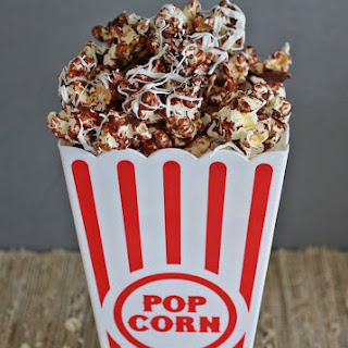 Chocolate Drizzled Pop Corn