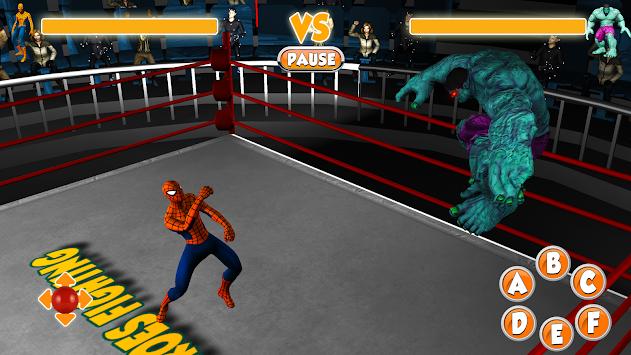 Spider Mutant Hero vs Superheros:Ring Fight Battle apk screenshot
