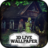 3D Wallpaper - Haunted Mansion