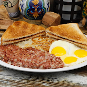Cornbeef Hash & Eggs Breakfast