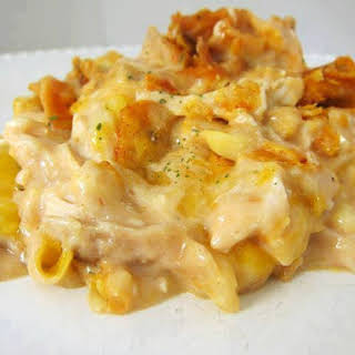 Dorito Chicken and Cheese Casserole.
