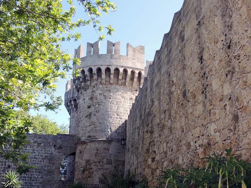 rhodes-battlement.jpg - Palace of the Grand Master, an ancient battlement on Rhodes, Greece.