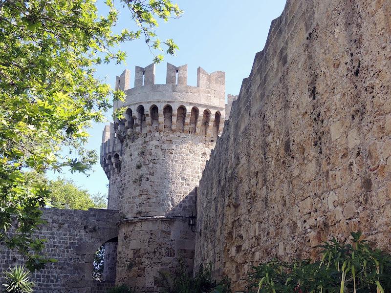 An ancient battlement on Rhodes, Greece.