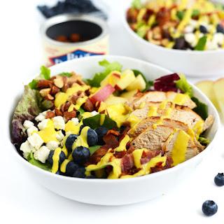 Chicken Chopped Salad with Creamy Honey Mustard Dressing.