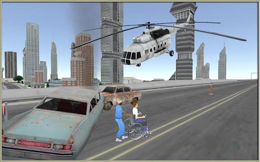 ヘリコプター 救急車: シティ シム