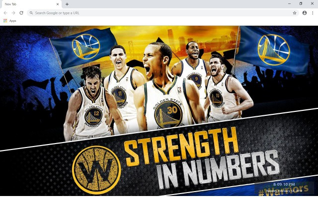 Golden State Warriors New Tab Theme