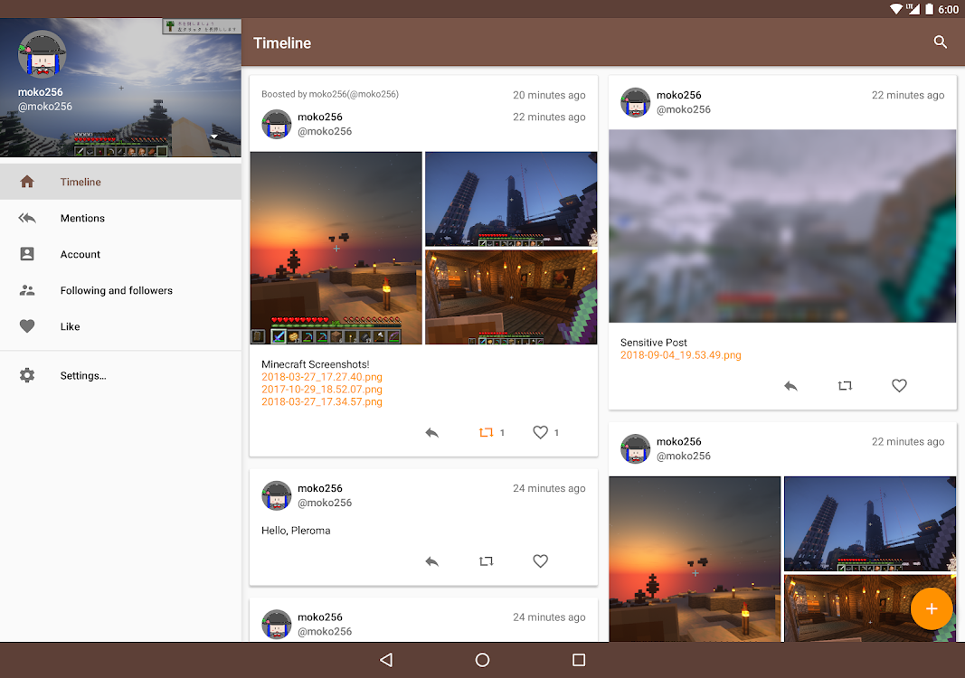 twitlatte - SNS client for Twitter and Mastodon – (Android