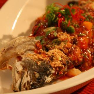 Emperor's Fried Sea Bass.