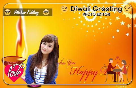 Diwali Greeting Card Photo Editor - náhled