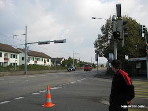 Photo: Der Verkehrsbus trifft ein.