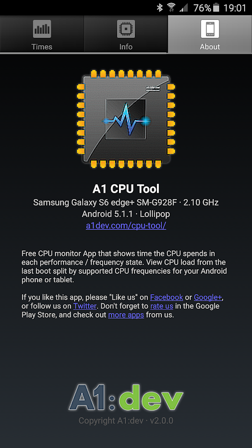 A1 CPU Tool- screenshot