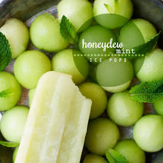 Honeydew Mint Ice Pops.