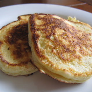 Meyer Lemon Ricotta Pancakes.