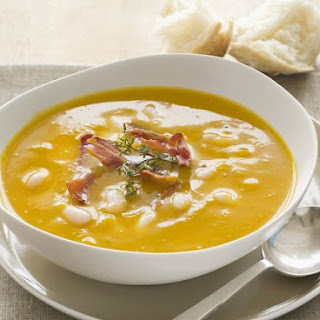 Pumpkin Bisque with White Beans