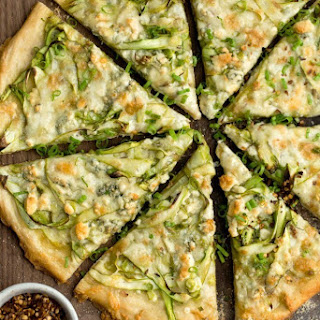Shaved Asparagus Pizza with Gorgonzola Recipe