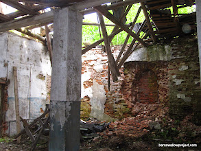 Photo: Former entryway to the abandoned church