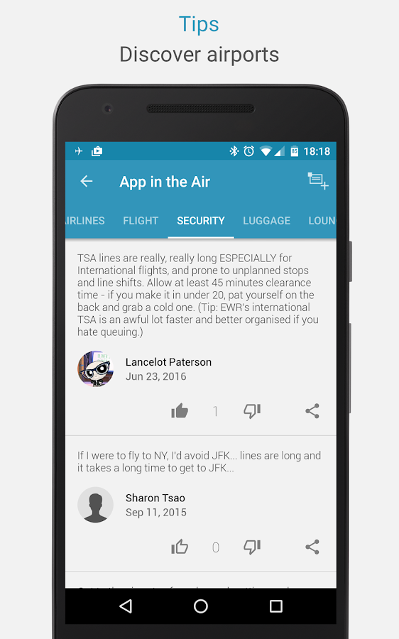 App in the Air - Personal travel assistant- screenshot