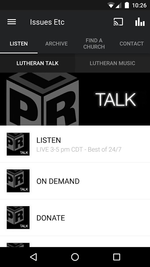 Lutheran Public Radio- screenshot
