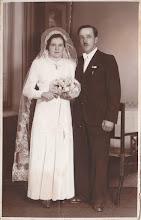 Photo: Szabó Imre  és Klementina, Zöldállás, 1941. Csicsó-Ógyalla.