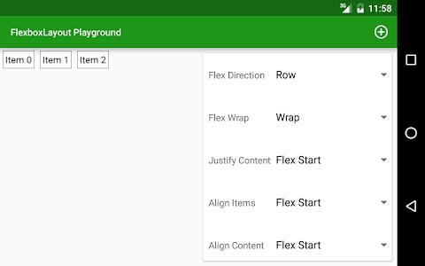 FlexboxLayout Playground screenshot 1